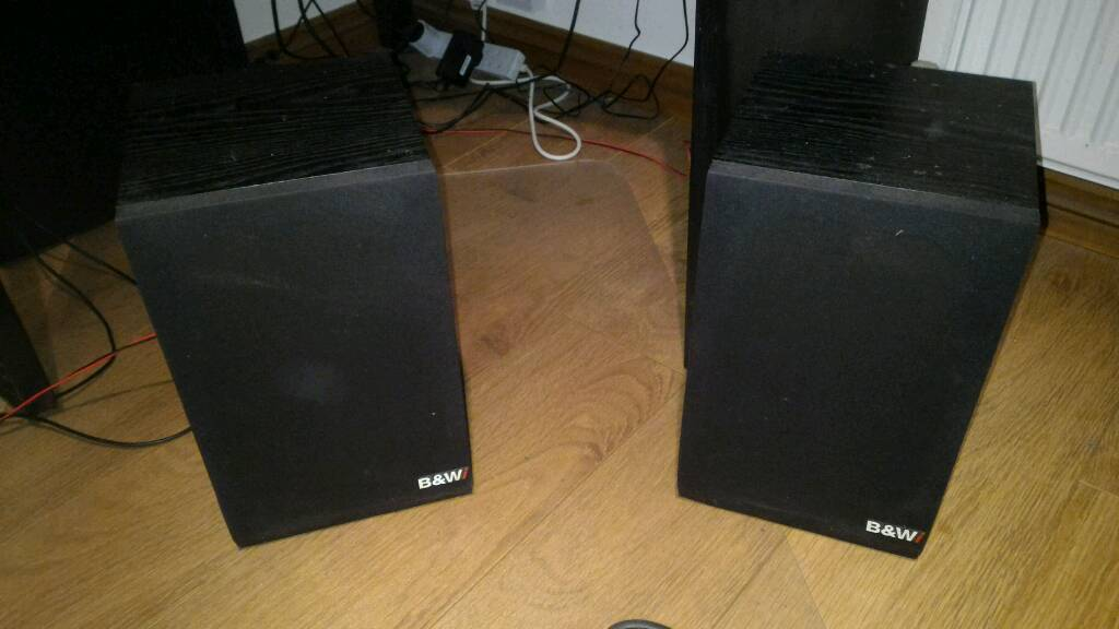 B&W speakers and a basic amp