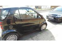Smart Fort wo Pure 61, 2dr Auto 0.7, patrol, hatchback 2007,BLACK, HPI CLEAR,