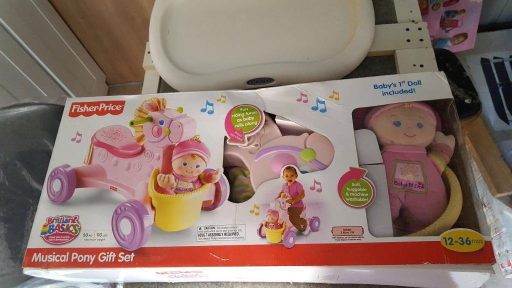 Fisher Price Musical Pony Gift Set