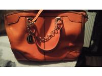 Orange river island handbag
