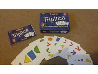 Rare - Triplica card game with tin, as new, Christmas gift