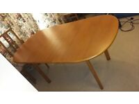 Expanding Teak Dining Table and 6 Chairs