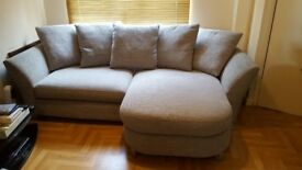 Almost New Immaculate Condition DFS Lounger Sofa & Storage Footstool
