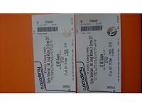Kiefer Sutherland concert tickets x2, 27 June, glasgow