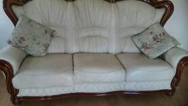 *Cream leather suite*