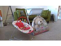 Baby Bath Stand & Bath, Baby Bouncer and Activity Bear