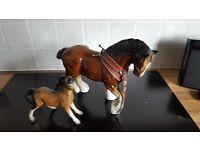 vintage shire horse ornament.
