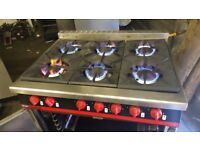 PUB HOTEL TAKEAWAY CHINESE INDIAN FAST FOODBARTLETT YEOMAN 6 BURNER NATURAL GAS COOKER 6 RING COOKER