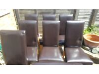 QUICK SALE - 8 LEATHER CHAIRS