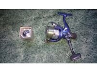 Shimano Nexave 4000RC with spool loaded with 8lb line + spare spool - only used once!