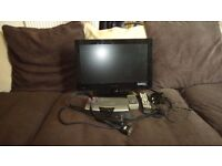"""19"""" LED TV WITH DIDGY BOX REMOTES & LEADS"""