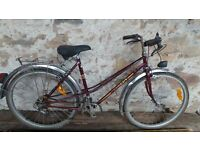 Vintage Retro French Ladies Peugeot Purple Town Bike Bicycle Cycle Vtg