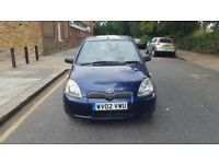 2002 toyota yaris 1.3 blue 5dr hatchback auto petrol MOT july2019 full service history 2keys