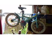 "Girls 16"" Apollo Sparkle bike with stabilizers"