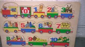 Educational wooden jigsaw