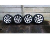 4x Alloy Wheels + tyres 205/45 r16 Mitsubishi Colt CZ3
