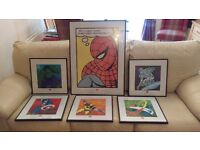 Framed Marvel Comics Art Prints (High Quality Prints in Glass Frame)