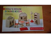 New dolls house dining room set