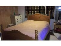 Pinewood double bed frame