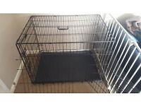 Two door dog crate