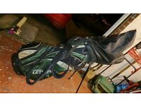 Golf Clubs; 9 irons, driver and putter, and Bag - Ideal starter set