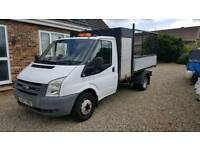 2007 Ford transit caged tipper with tool box