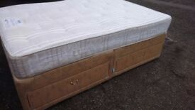 Well made Double Bed Quick Free Delivery. Complete with Myers Mattress. Very Clean , no stains.