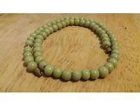 vintage czech glass bead necklace