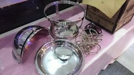 Brand new Buffet food warmers' high quality stainless steel. Electric warmer also.
