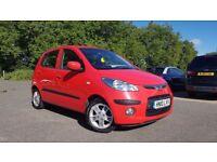 2010 10 plate Red Hyundai 1.2 Petrol Manual