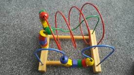 Child's bead rollercoaster