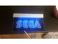SEGA neon sign