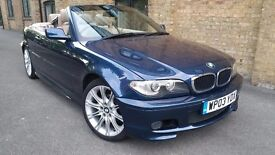 BMW E46 M Sport Convertible, One previous DR owner, GURANTEED **66000** MILES, Full S history