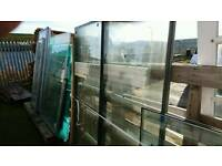 Various new double glazed units and toughened glass