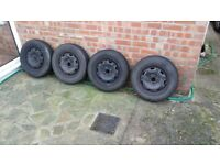 Winter tyres and wheels for VW polo. Full set of 4 tyres in good condition.
