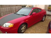 Hyundai coupe 2004 -2.0 red/carbon- black leather interior now £400