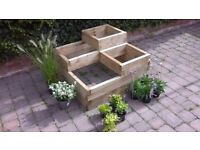 Wooden Raised Planter as new 90 x 90 x 56