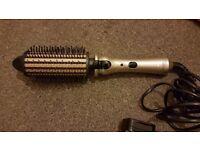 Remington keratin therapy heated brush curling tongs