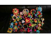 A big bundle of baby toys