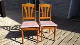 Pine Chairs with Upholstered seats
