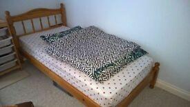 Beautiful Pine Single bed and mattress