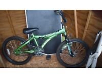Green bike great condition child's