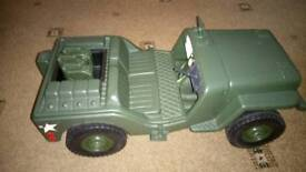 Action man tank and jeep