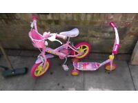 Toddlers Peppa Pig Bike and Scooter