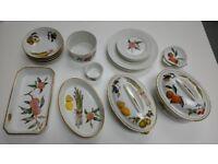 Royal Worcester Evesham collection