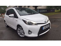 TOYOTA YARIS T-SPIRIT HYBRID 2013 FULLY LOADED 1 OWNER TOYOTA HISTORY SAT NAV AND PANROOF