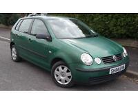 2004 VW POLO SDI 5 DOOR LOW MILES FULL SERVICE HISTORY LONG MOT DRIVES GREAT IDEAL 1ST CAR £795!!!