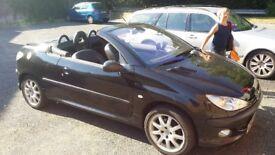 Peugeot 206 cc convertible 2002 low mileage