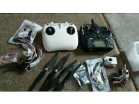 Drone parts recivers + 2 different remote controllers cables