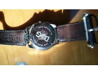 D&G really old watch, leather strap seen better days